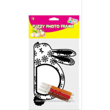 Marcos creativos de la foto creativa de DIY, conejito borroso de pascua