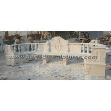 Silla de jardín de mármol tallada de la piedra para los muebles al aire libre (QTC035)
