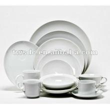 Hotel Ware & Restaurant weißer Keramik Geschirr set