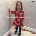 Новый Дизайн Дети Рождество Платье Партии Платья В Китае Девочка Платье В Красном Цвете
