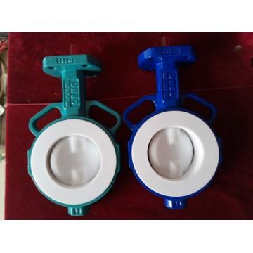 Válvula de mariposa de dos ejes con disco recubierto de PTFE