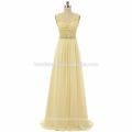 Новая коллекция бисером платье ремень реальные фото шифон этаж длина пром платье женщины 2017 с V-образным вырезом и дизайн молнию