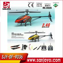 cámara con pantalla lcd helicóptero rc con giroscopio 2.4G sola cuchilla