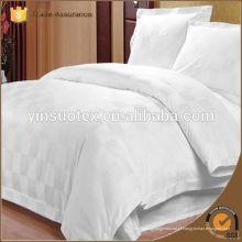 Tecido de algodão branco branqueado para roupa de cama