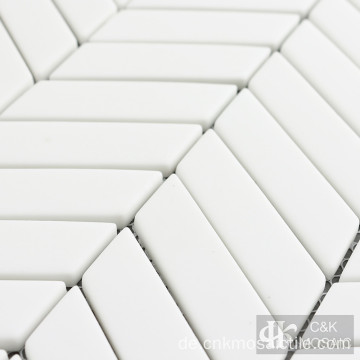 White Glass Mosaic Tile Sale für Badezimmerdekoration