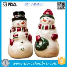 Adorable sel et poivre du Père Noël en céramique