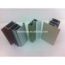 Perfis de alumínio revestido em pó para portas de janelas