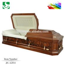 Cercueil de Carve intérieur couleur chocolat couleur chamois