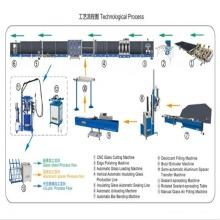 Machine de traitement du verre isolant pour assemblage extérieur