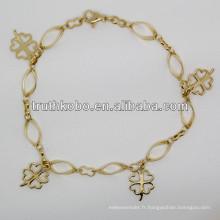 2013 bijoux de bracelet de femmes d'acier inoxydable de la forme 316L de forme de fleur de mode