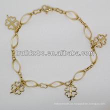 2013 moda flor forma 316L mulheres de aço inoxidável pulseira de jóias