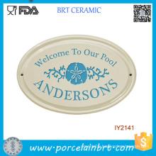 Custom DIY Yourself Wholesale Ceramic Garden Doorplate