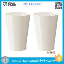 Pote de cerámica blanco de encargo al por mayor del plantador