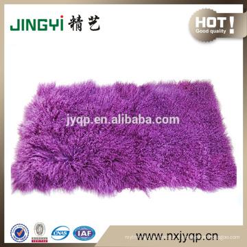 Wholesale pur Tibet agneau plaques de fourrure