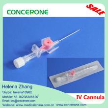 Cánula IV (Tipo de ala) Sin inyección Puerto IV Catéter