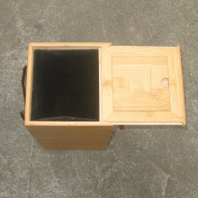 Caja de vino con tapa corrediza de bambú individual
