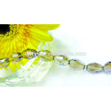 DIY faceted olive glass beads rice glass beads