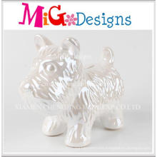 Factory Cheap Price Ceramic Dog Design Money Bank
