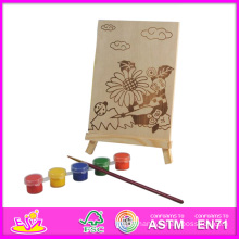 2014 New Play Baby Paint Set, Popular DIY Toy Baby Paint Toy, Hand Painted Wooden Figure Series with Pegment and Pen W03A043