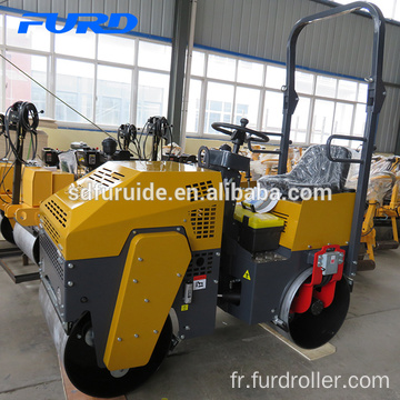 Ride-on Double Drum Vibratory Mini Road Roller Compactor Price Fyl-880