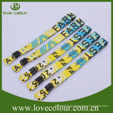 Pulseras tejidas económicas con logotipo personalizado