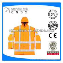 Impermeable naranja de alta visibilidad EN471 / ANSI