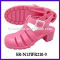 SR-N13WR210-9 (2) sandalias del plástico de las sandalias de la jalea del alto talón sandalias al por mayor al por mayor de la jalea
