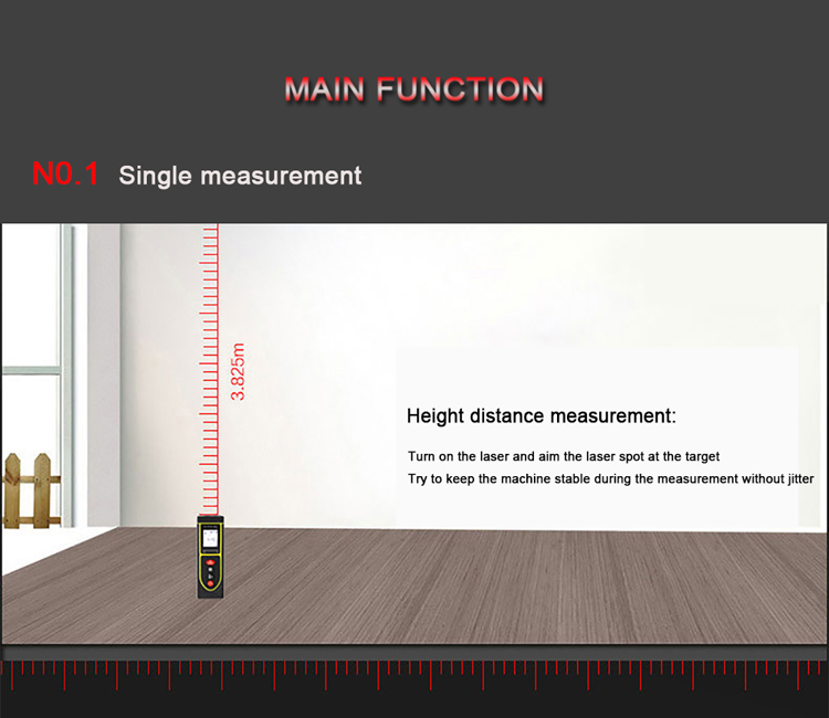 How to measureLaser Distance Meter distance