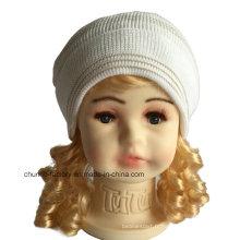 Nouveau chapeau en acrylique Beanie Hat avec genouillère et doublure en molleton
