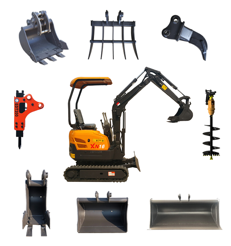 mini digger With Accessories