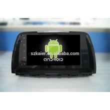 Quad core! Android 4.4 / 5.1 voiture dvd pour MAZDA 6 2015 avec écran tactile capacitif / GPS / lien miroir / DVR / TPMS / OBD2 / WIFI / 4G