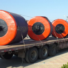 Offshore ocean surface marine EVA foam filled buoys anchor pendant chain through pick up mooring fishing buoys for sale