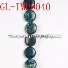 Piedras preciosas de Imperial 12mm plana granos redondos