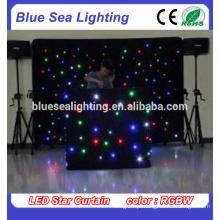 Luz da cortina da estrela do diodo emissor de luz para a decoração do casamento do contexto do DJ do estágio