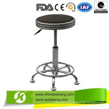 Cadeira ajustável da enfermeira da altura com rodas, cadeira do escritório, tamborete ajustável