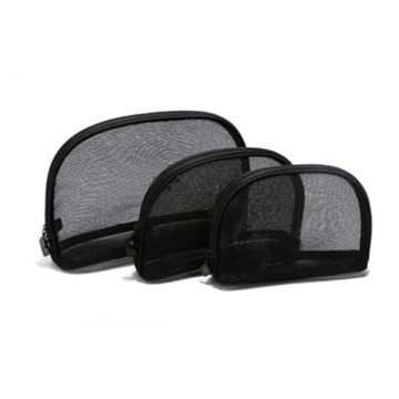 Beauty Cosmetic Makeup Bag Black Mesh 3 Taglie