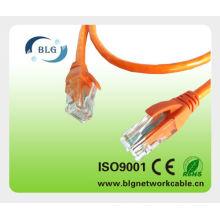 RoHS PVC / LSZH RJ45 UTP CAT5E cable de cable del remiendo