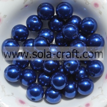 Modieuze acryl Pearl Craft kralen armband Spacer charme Blue Color 6 MM voor Kerstmis Garland