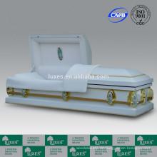 LUXES amerikanischen heißer Verkauf Beerdigung billige Coffins18ga Metall Schatullen