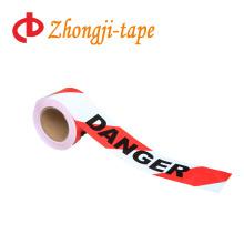 со словом красный и белый PE опасности ленты