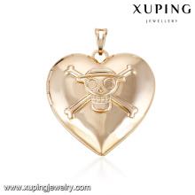32205-Xuping cráneo diseño joyería moda 18k chapado en oro medallón colgante para mujeres regalo
