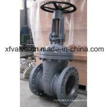 Vanne à clapet à clapet à bride en acier moulé en fonte d'aluminium de 150 lb de 300 lb et 600 lb
