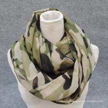 Whosale elegance fashion soft print viscose circle navy military infinity scarf wholesale