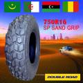 Pneu de areia SP sand grip 7.50R16 para o mercado atacadista de Dubai