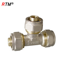 J17 4 12 1 high quality screw fitting forging compression brass copper nipple threaded