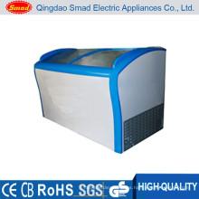 Refrigerador de la exhibición del restaurante puertas de cristal transparentes gabinete de mantenimiento fresco