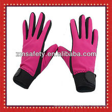 Women synthetic leather fitness gym gloves