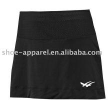 Jupes de tennis en polyester spandex couleur unie prix de gros