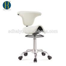 Beste Qualität weißer Kunstleder Schönheitssalon Hocker mit Metall-Mechanismus
