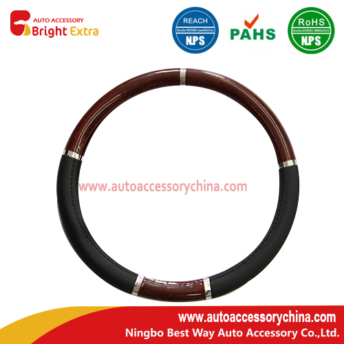 Wood Grain Steering Wheel Cover